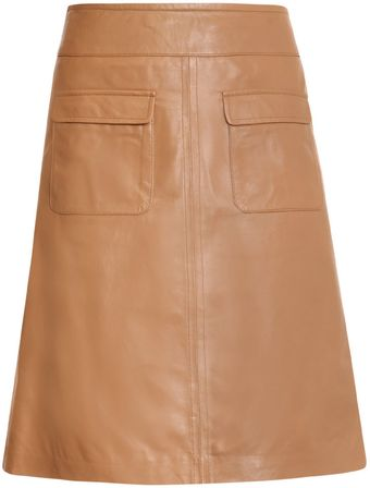 Freda Monique A-line Leather Skirt - Lyst