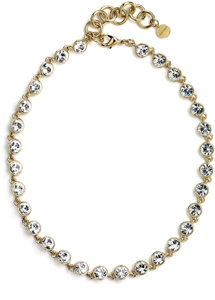 Givenchy Crystal Station Collar Necklace in Gold (gold/ crystal) - Lyst