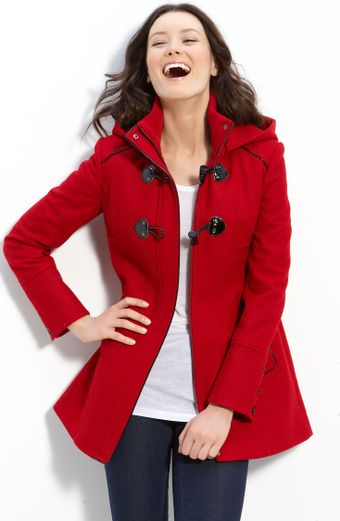 Guess Hooded Shaped Duffel Coat - Lyst