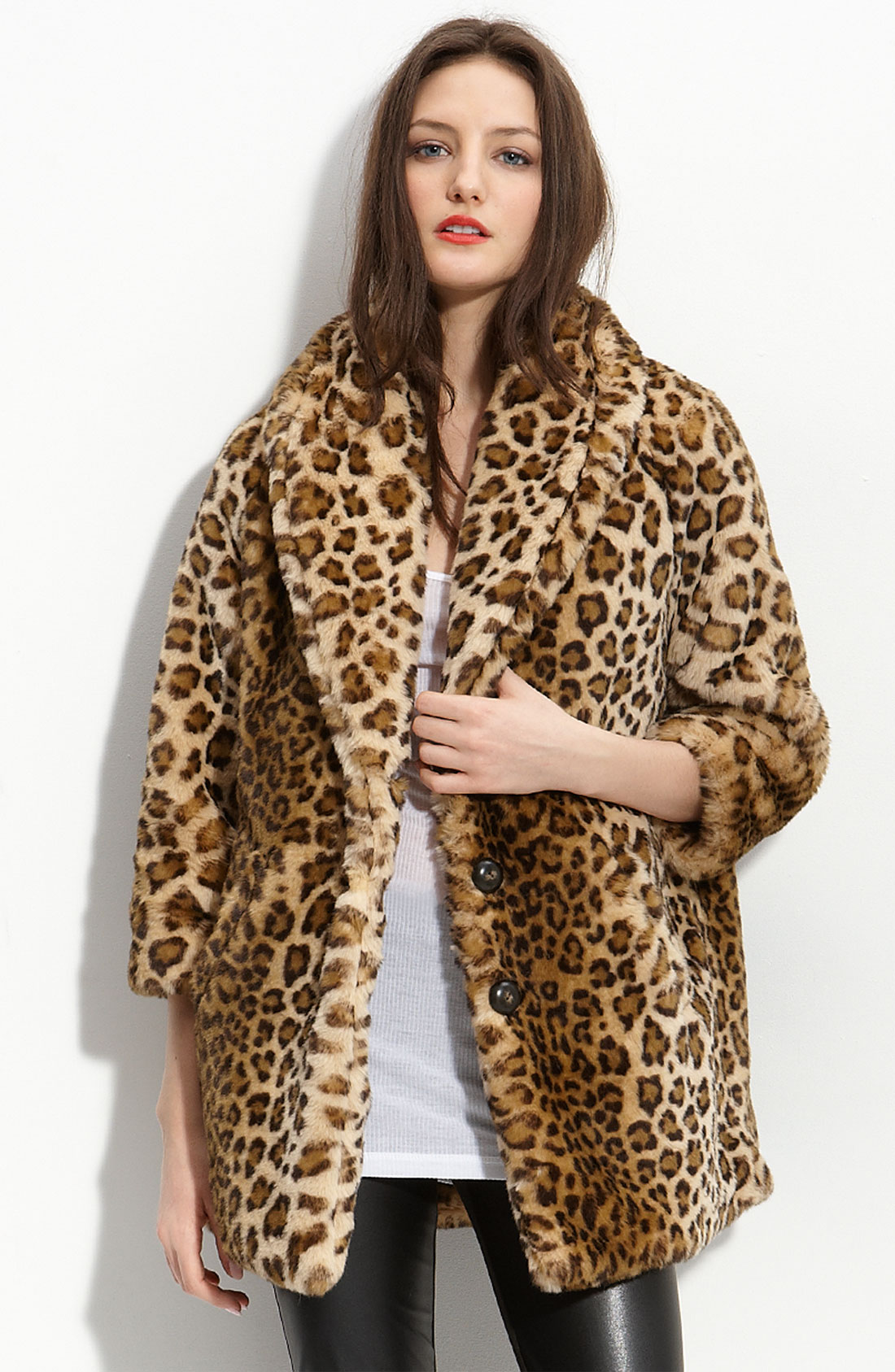 Pam & Gela Leopard Faux Fur Coat at bestsupsm5.cf - FASTEST FREE SHIPPING WORLDWIDE. Buy Pam & Gela Online.
