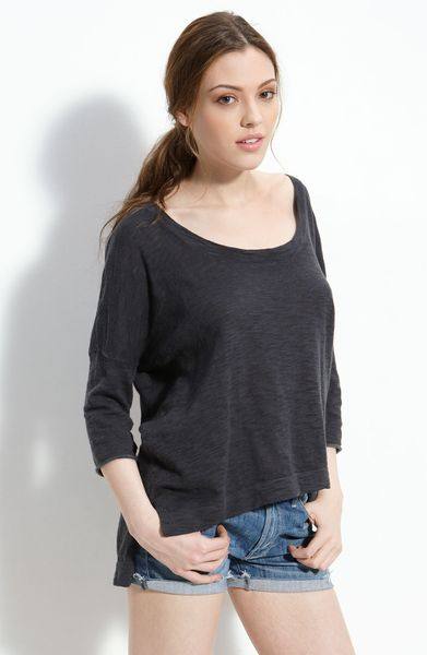 James Perse Boxy Tee in Blue (thunder) - Lyst