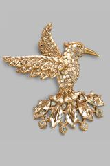 Jay Strongwater Hummingbird Crystal Brooch
