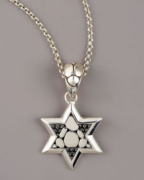 John Hardy Kali Black Sapphire Star Of David Pendant