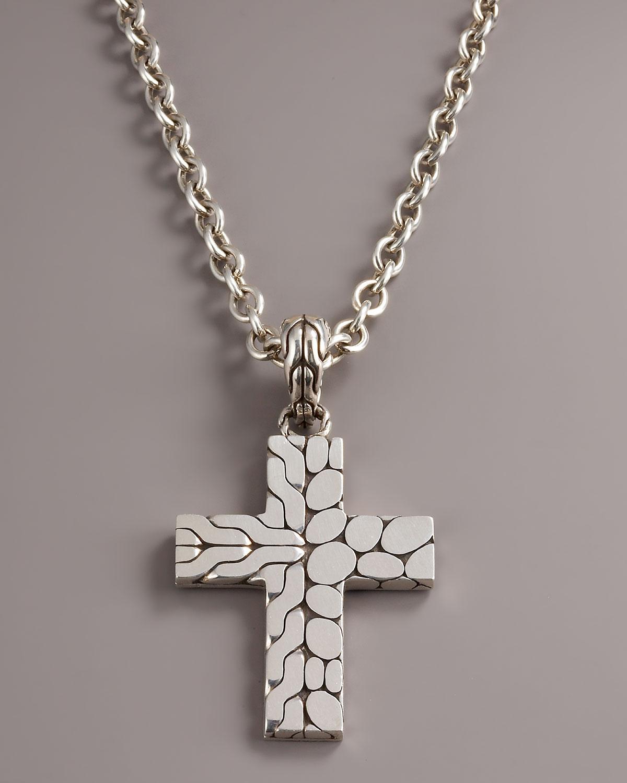 Lyst john hardy kali cross pendant in metallic for men gallery aloadofball Image collections