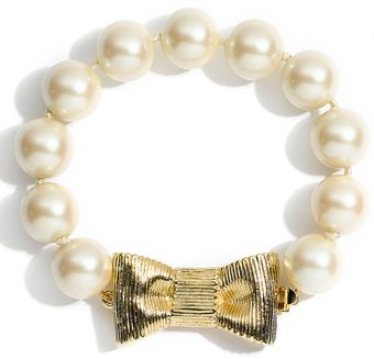 Kate Spade All Wrapped Up Glass Pearl Bracelet - Lyst