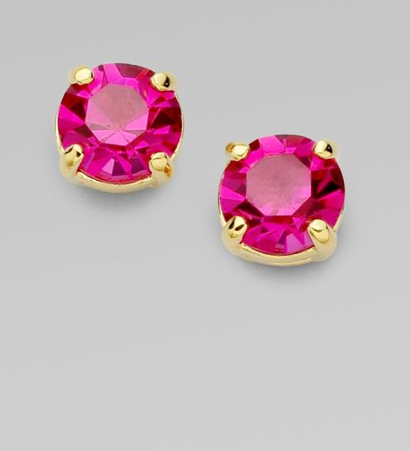 Kate Spade Sparkle Stud Earrings in Pink - Lyst