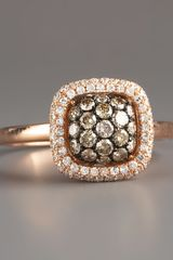 Kc Designs Champagne & White Diamond Ring, Rose - Lyst