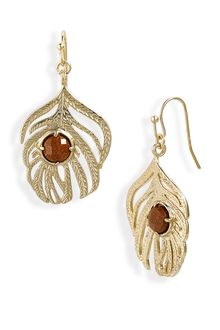 Kendra Scott Rita Small Leaf & Stone Earrings - Lyst