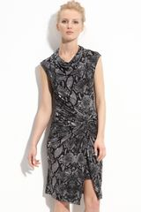 Kenneth Cole Python Print Knit Dress (petite) - Lyst