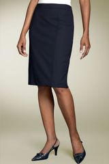 Lafayette 148 New York Stretch Wool Pencil Skirt - Lyst