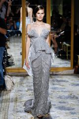 Marchesa Spring 2012 Gray Embellished Gown - Lyst