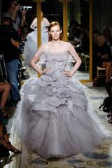 Marchesa Spring 2012 Lilac Gown in Gray - Lyst