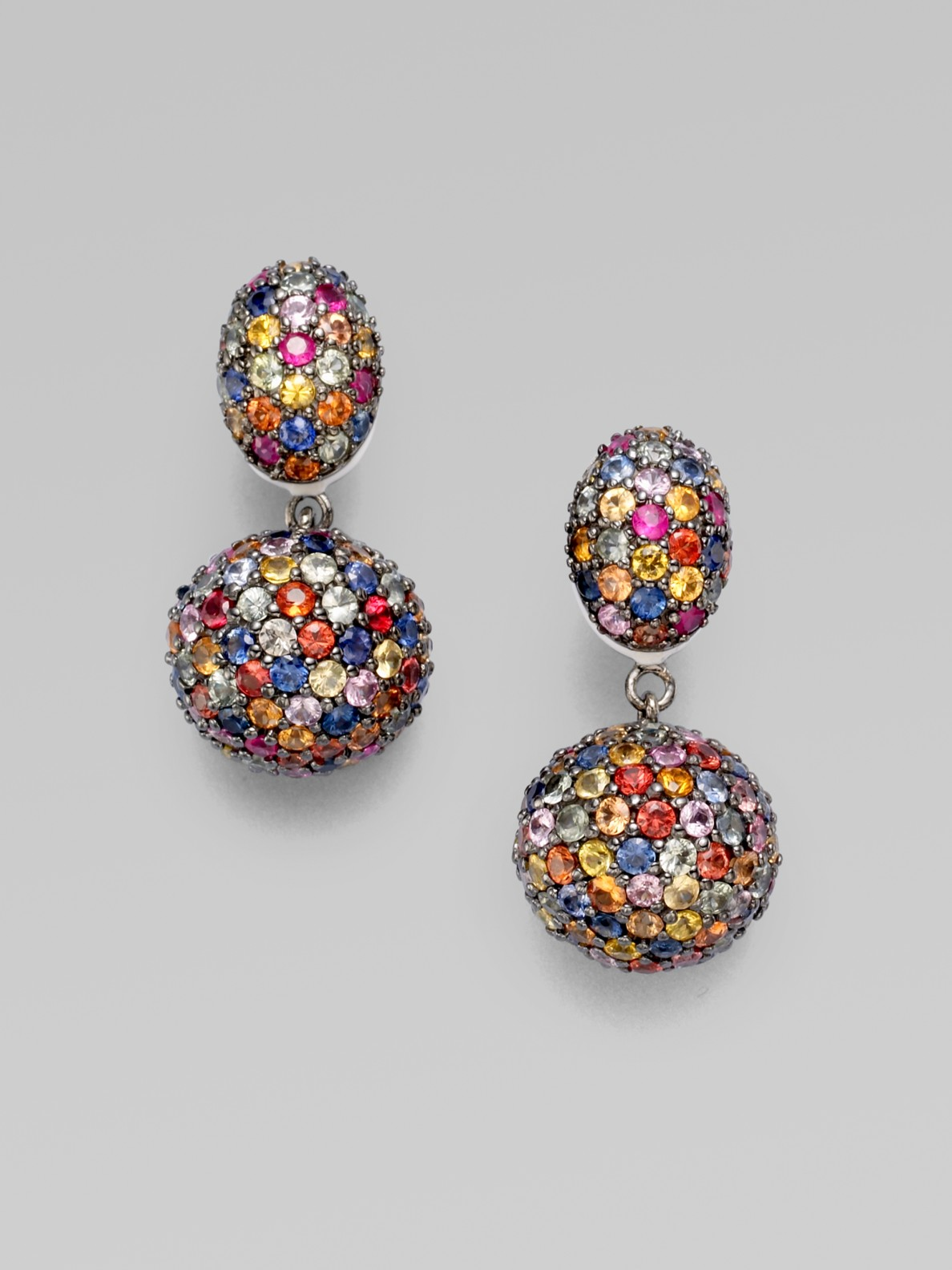 colored betsey stud earrings zoom blooming sale multi crystal flower multicolored stone johnson