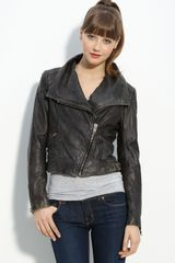 Michael by Michael Kors Distressed Leather Moto Jacket - Lyst