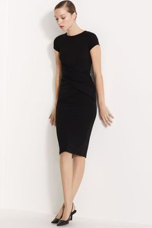 Michael Kors Wrap Front Matte Jersey Dress - Lyst