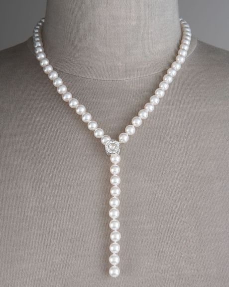Mikimoto Akoya Pearl Lariat Necklace In White Lyst