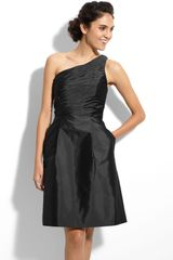 Ml Monique Lhuillier Bridesmaids One Shoulder Taffeta Dress (Nordstrom Exclusive) - Lyst