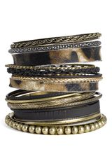 Natasha Couture Mixed Media Bangles - Lyst