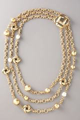 Oscar de la Renta Knotted Multi-strand Necklace - Lyst