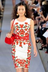 Oscar de la Renta Spring 2012 Floral Shift Dress - Lyst