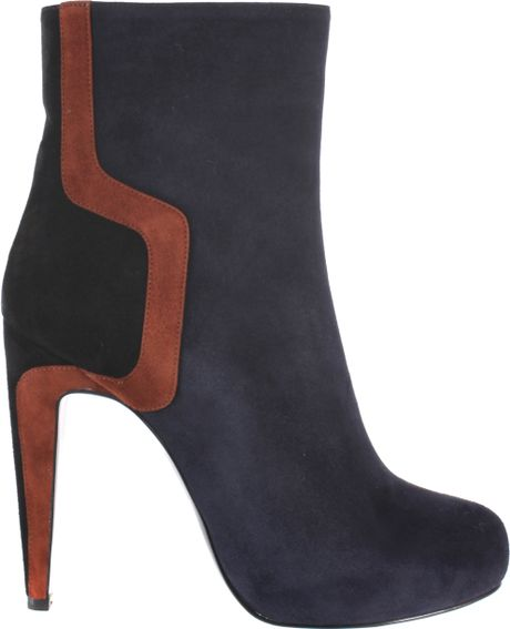 Pierre Hardy Tricolored Kid Suede Boots in Blue - Lyst
