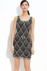 Pisarro Nights Scallop Beaded Tank Dress - Lyst