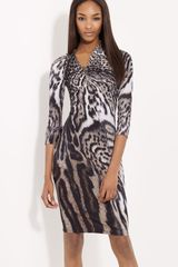 Roberto Cavalli Animal Print Dress - Lyst