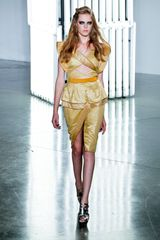 Rodarte Spring 2012 Short Sleeve Blouse in Gold (gold, natural, yellow) - Lyst