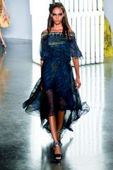 Rodarte Spring 2012 Deep Impressionist Chiffon Evening Dress - Lyst