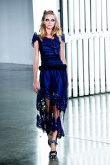 Rodarte Spring 2012 Embroided Silk And Chiffon Prom Dress - Lyst