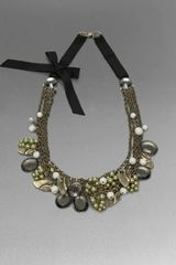 St. John Mixed Media Statement Necklace - Lyst