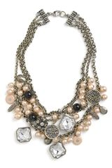 St. John Collection Faux Pearl & Glass Charm Necklace - Lyst