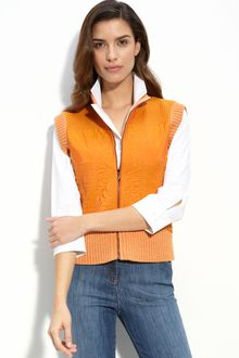 St. John Yellow Label Quilted Vest - Lyst