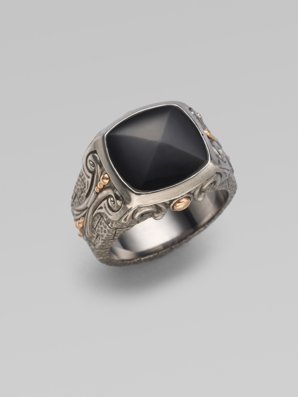 stephen webster sterling silver black onyx ring in black