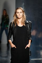 Theyskens' Theory Spring 2012 Cropped Leather Jacket - Lyst