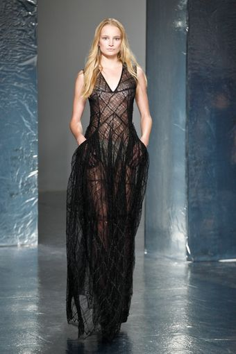 Theyskens' Theory Spring 2012 Sheer Black Gown - Lyst