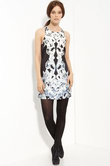 Tibi Printed Silk Dress - Lyst
