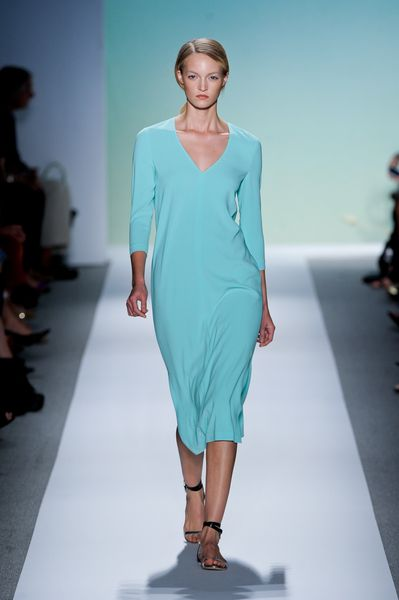 Tibi Spring 2012 Blue VNeck Dress in Blue - Lyst