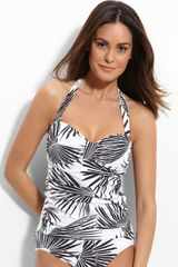 Tommy Bahama Swim Palm Tankini Top - Lyst