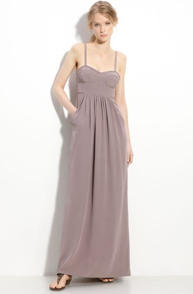 Twelfth Street By Cynthia Vincent Silk Maxi Dress in Pink (mauve) - Lyst