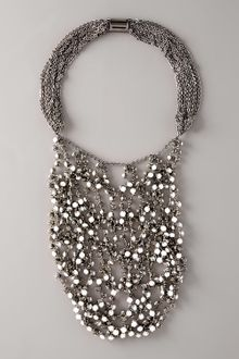 Vera Wang Wrapped Rhinestone Necklace, White - Lyst