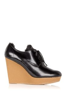 3.1 Phillip Lim Beau Wedge Fur Lined Shoe - Lyst
