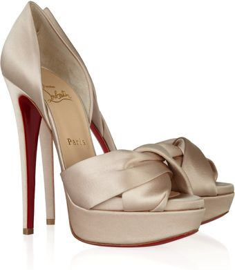 Christian Louboutin Volpi 150 Satin-covered Leather Sandals - Lyst