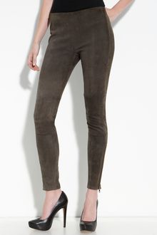 Current/Elliott The Pull Up Suede Leggings - Lyst