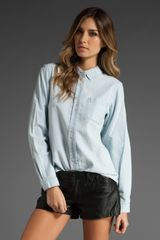 Marc By Marc Jacobs Chambray Shirt in Light Blue - Lyst