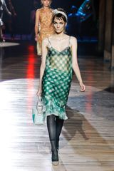 Marc Jacobs Spring 2012 Sheer Green Dress in Green - Lyst