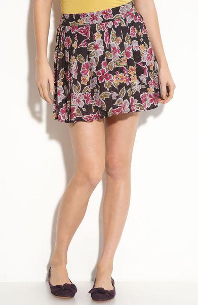 mimi chica pleated print skirt juniors in black lyst
