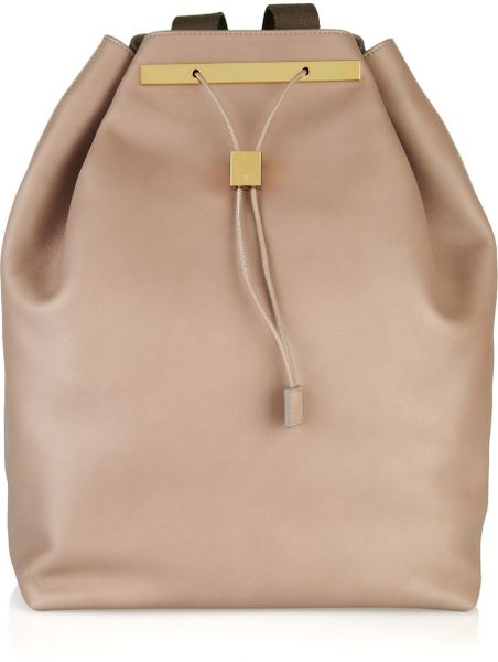 The Row Leather Backpack in Brown (taupe) - Lyst