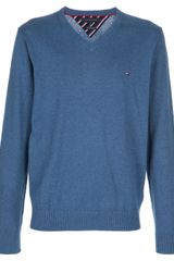 Tommy Hilfiger V Neck Sweater - Lyst