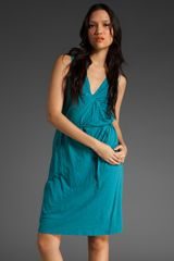 Velvet Euna Cotton Gathered Tie Waist Dress - Lyst
